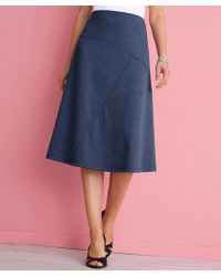 DAMART Flared Milano Skirt - Blue