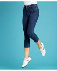 DAMART Perfect Fit Crop Trousers - Blue