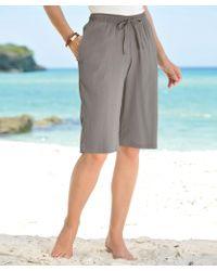 DAMART - Crinkle Bermuda Shorts - Lyst