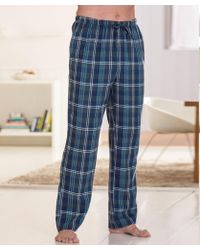 DAMART Pack Of 2 Winceyette Trousers - Blue