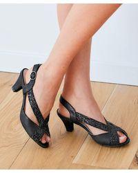 DAMART Peep-toe Sandal - Black