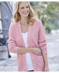 DAMART Waffle Knit Cardigan - Pink