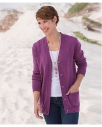 DAMART Soft Easy-care Cardigan - Purple