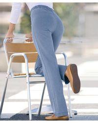 DAMART Pull-on Stretch Jeans - Blue