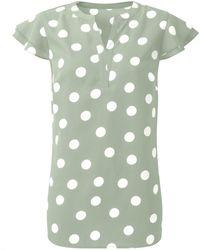 DAMART Frill Sleeve Blouse - Green