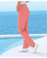 DAMART Cotton Stretch Trousers - Blue