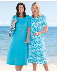 DAMART - Jersey Dress - Longer Length - Lyst