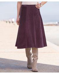 DAMART Cord Skirt - Purple