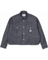 Carhartt WIP Womens Long Sleeve Trade Shirt - Blue