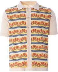 Far Afield Zigger Short Sleeve Cardigan - Multicolour