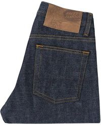 Naked & Famous Naked And Famous Weird Guy Red Selvage Indigo D - Blue