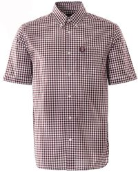 Fred Perry Short Sleeve Gingham Shirt - Multicolour