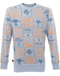 Vivienne Westwood - Classic Doodle Print Light Blue Sweatshirt 59288506 - Lyst