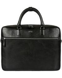 Sandqvist - Dag Black Leather Briefcase Sqa594 - Lyst