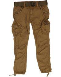 Schott Nyc - Trbatle70Pkr Camel Trousers Trbatle70Pkr - Lyst