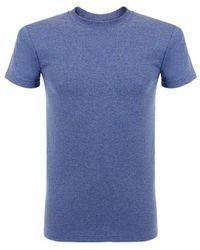 Naked & Famous Naked And Famous Vintage Circular Knit Blue T-shirt