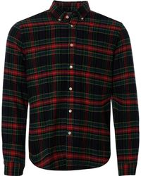 Portuguese Flannel - Scotch Button Down Shirt - Red, Green & Blue - Lyst
