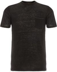 Rag & Bone - Owen Black T-Shirt M272T16Jv - Lyst