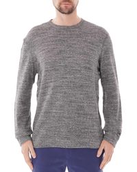 Naked & Famous Naked And Famous Slim Crew Neck - Charcoal 0011 - Grey