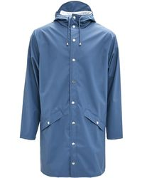 Rains Long Faded Blue Unisex Jacket