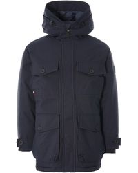 Tommy Hilfiger - Hooded Canvas Parka - Lyst