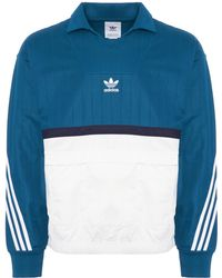 27823aa03e52 Lyst - Adidas Originals Trefoil Crew (black white) Men s Long Sleeve ...