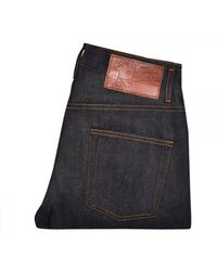 Naked & Famous Naked And Famous Easy Guy Dark Wash Selvedge De - Blue