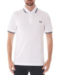 Fred Perry M3600-i69 Twin Tip Polo - White