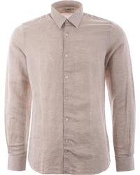 J.Lindeberg Daniel Long Sleeve Linen Shirt - Multicolour
