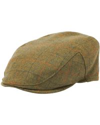 e061d89d Barbour Wool Crieff Flat Cap in Green for Men - Lyst