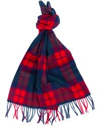 Barbour New Check Tartan Scarf - Red