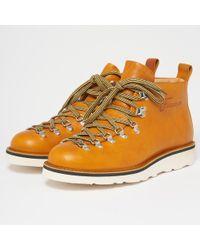Fracap - M120 Scarponcino Vaccheta Yellow Leather Boots - Lyst