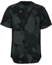 Maharishi Camo Baseball Shirt - Black