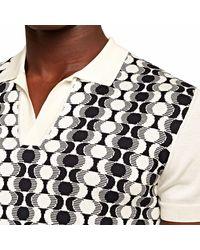 Orlebar Brown Horton Silk Intarsia Knit Polo Shirt - White
