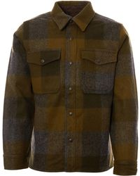 Filson Mackinaw Jac-shirt- Dark Military Plaid - Green