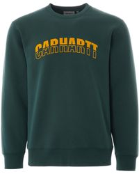 Carhartt WIP - | District Sweat | Tree House Green | I027679-08z Colou - Lyst