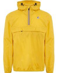 K-Way Le Vrai Leon 3.0 Yellow Mustard Packable Windbreaker Jacket