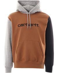 Carhartt WIP Hooded Tricol Sweatshirt - Brown