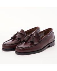 G.H.BASS Layton Moc Kiltie Tassle Loafers - Wine Ba110200nn - Brown