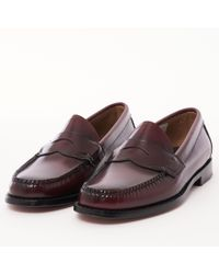 G.H.BASS Logan Polished Leather Loafer - Brown