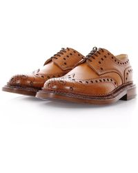 Grenson - The Triple Welt Archie Tan Brogue Shoes 5067G-423 - Lyst