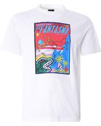 Paul Smith 'pulp' Print Organic Cotton T-shirt - White