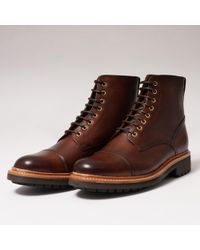 Grenson Joseph Toe Cap Derby Boot - Brown