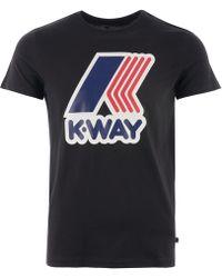 K-Way - Pete Macro Logo T-shirt - Lyst