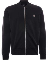 Paul Smith Zebra Logo Organic-cotton Bomber Jacket - Black