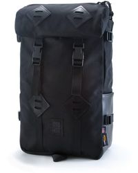 Topo Designs - Topo Design Kettlesack Ballistic Black Leather Backpack - Lyst