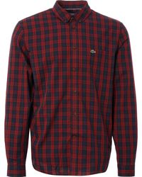 Lacoste - Motion Check Cotton Twill Shirt - Lyst