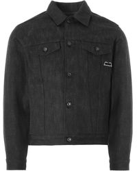 Naked & Famous Naked And Famous Dark Knight Selvedge Denim Jac - Black