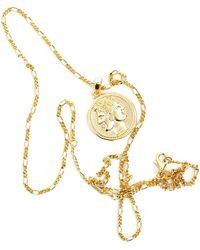 Serge Denimes Gold Plated Silver Janus Necklace - Metallic