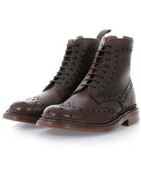 Grenson - Fred The Triple Welt Brown Brogue Boot 5068G-425 - Lyst